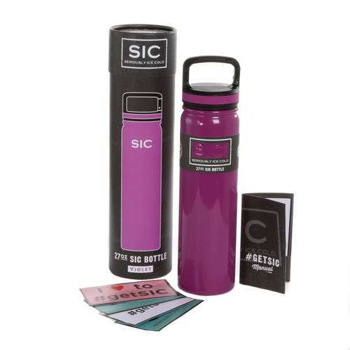 SIC Cups 27oz Stainless Steel Violet Powder Coated Bottle