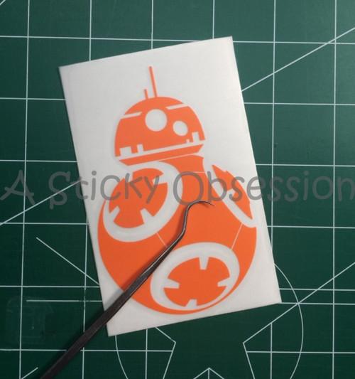 Star Wars The Force Awakens BB8 BB-8 orange decal Episode 7