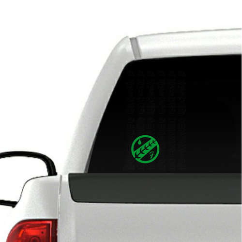 Boba Fett Jaster Feather decal on truck