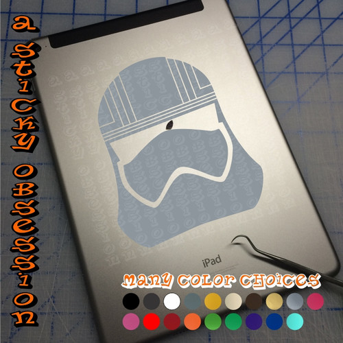 Star Wars The Force Awakens Captain Phasma silver decal on ipad