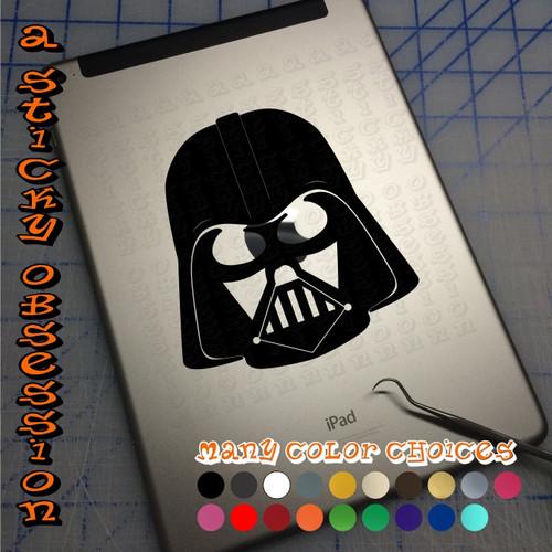 Star Wars Darth Vader black decal on ipad