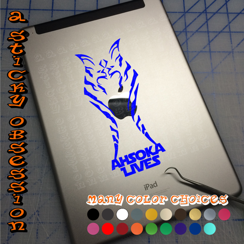 Star Wars Rebels Ahsoka Tano Ahsoka Lives in blue on iPad