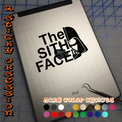Star Wars Darth Vader The Sith Face black decal on iPad