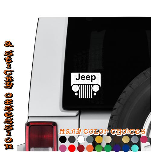 Jeep Wrangler CJ Windshield decal on Jeep