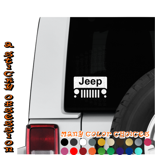 Jeep Wrangler JK Windshield decal on Jeep