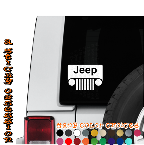 Jeep Wrangler TJ Windshield decal on Jeep