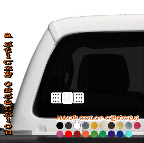 Single Bandaid Bandage white decal on truck