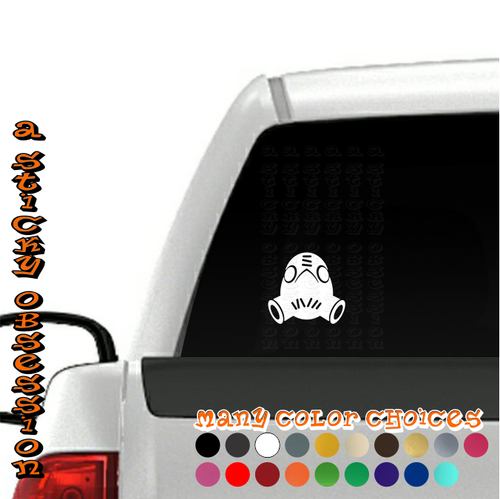 Overwatch Roadhog white decal on truck