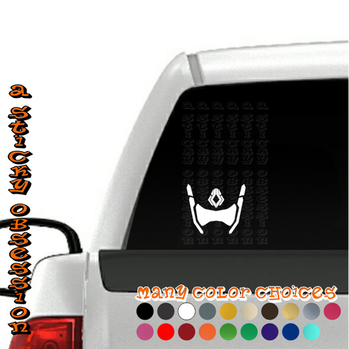 Overwatch Symmetra white decal on truck