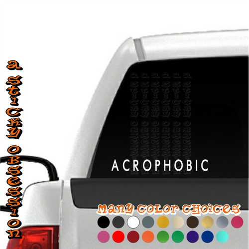 Acrophobic Style 1 Stanced white decal on truck