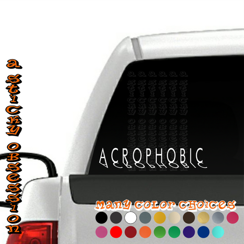 Acrophobic Style 2 Stanced white decal on truck