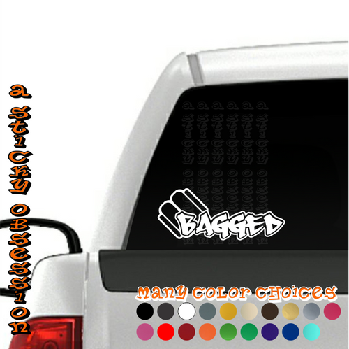 Bagged Style 1 Air Bag Decal on truck