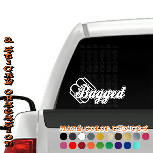 Bagged Style 2 Air Bag Decal on truck