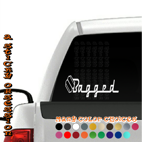 Bagged Style 3 Air Bag Decal on truck