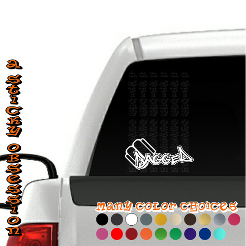 Bagged Style 4 Air Bag Decal on truck
