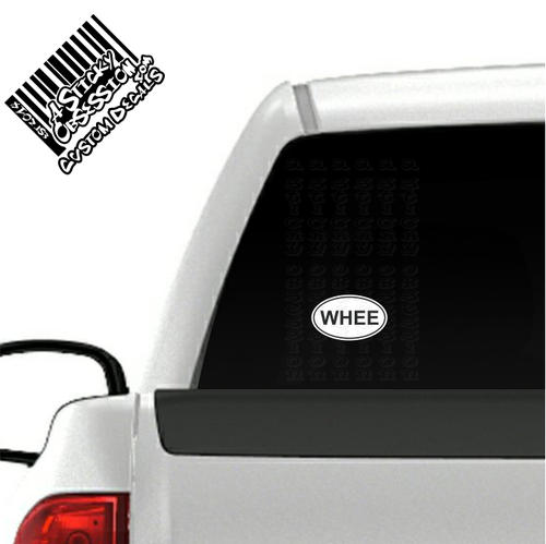 WHEE Oval decal on truck