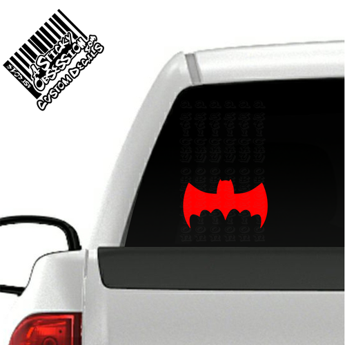1966 Batmobile Batman Decal on truck