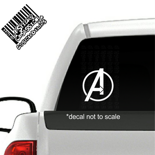 Avengers decal on truck
