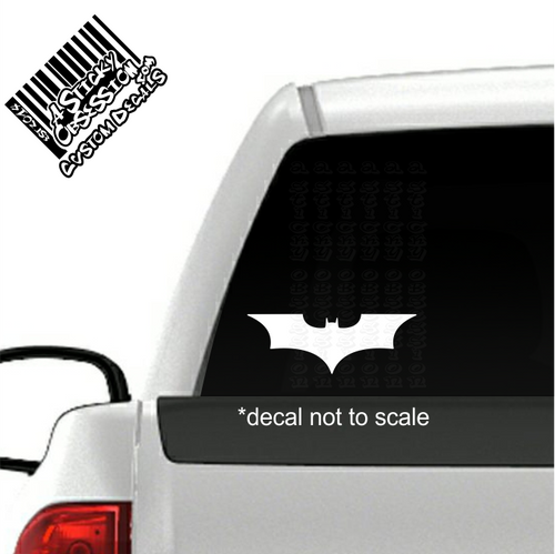 Batman Dark Knight decal on truck