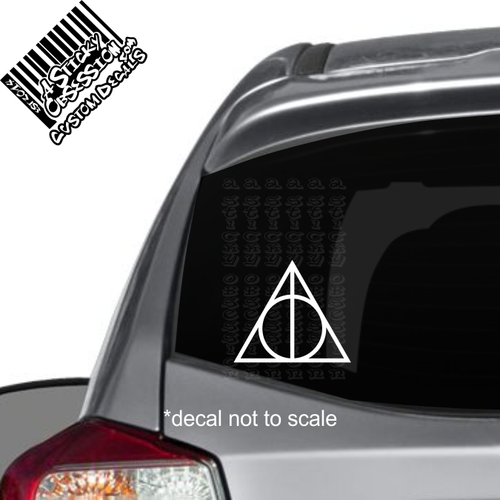 Harry Potter Deathly Hollows Decal on Impreza