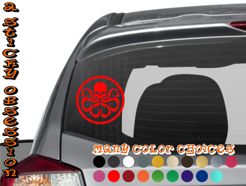 Hydra Octopus Skull Avengers Decal on Impreza