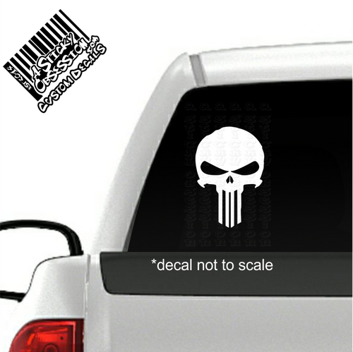 Punisher Skull Decal on truck