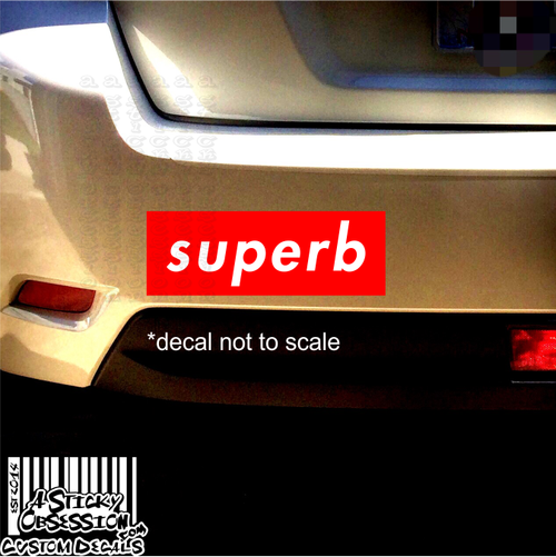 superb decal on Subaru Impreza