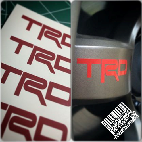 TRD decal on wheel