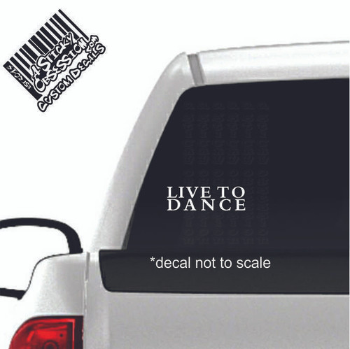 Live to Dance Custom Decal on truck