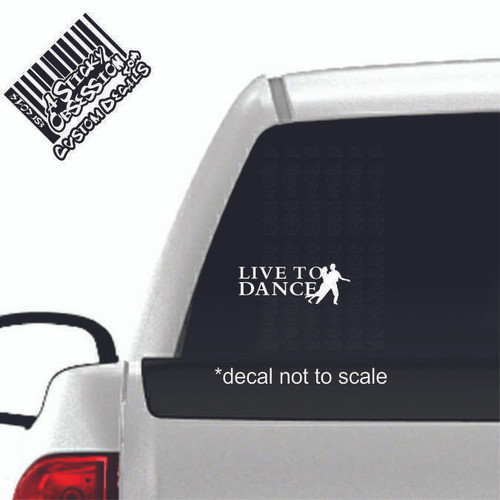 Live to Dance Couple Custom Decal on truck