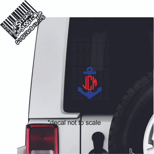 Anchor Monogram on Jeep