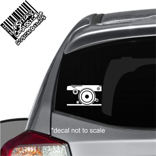 Olympus Pen decal on Impreza