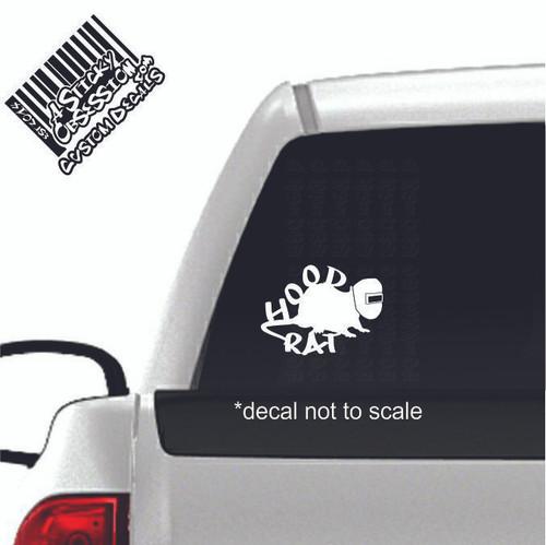 Hood Rat Welding Decal on truck