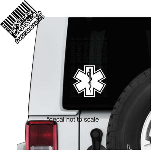 EMT Decal on Jeep