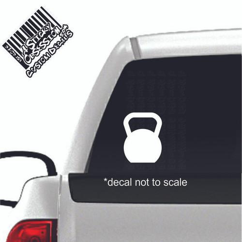Kettlebell Custom Decal on truck