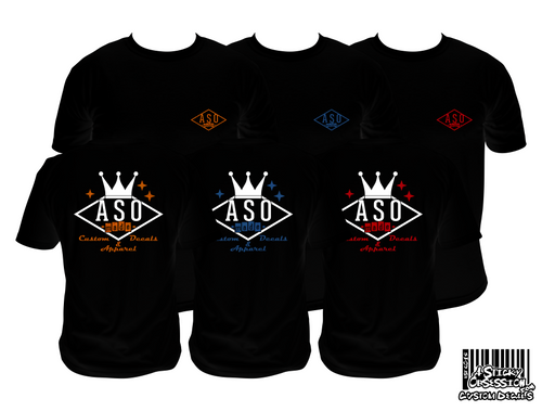 ASO Made Bowling Logo Premium Mens black T-Shirt