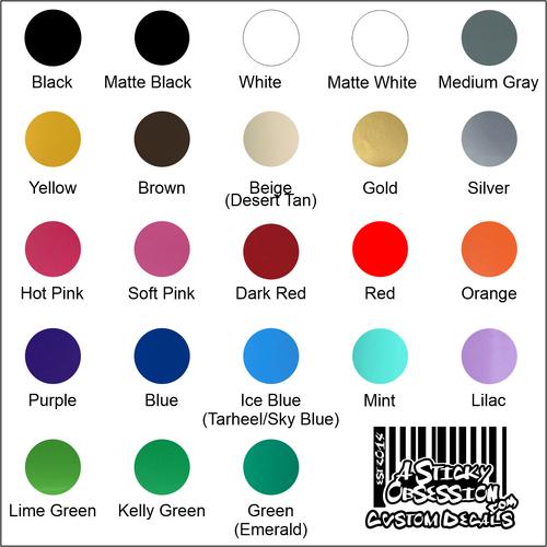 Available vinyl colors