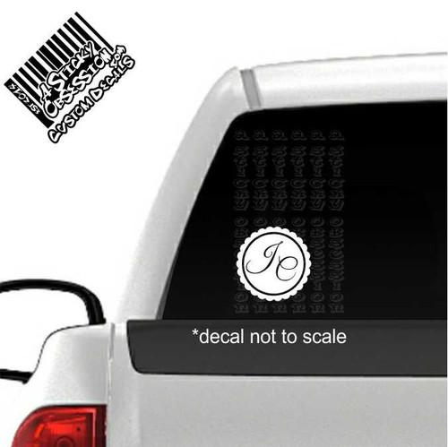Scallop monogram on truck