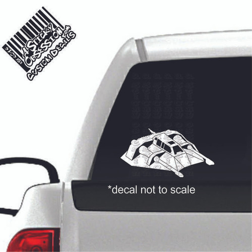 Snowspeeder decal on truck