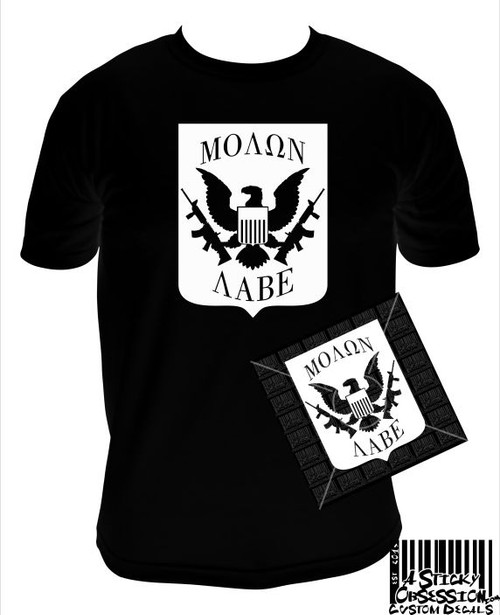 Molon Labe US Great Seal Shield T-Shirt Decal Bundle