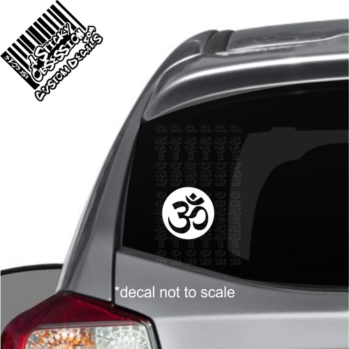 Om Symbol Round Yoga Hindu Spiritual Custom sticker on car