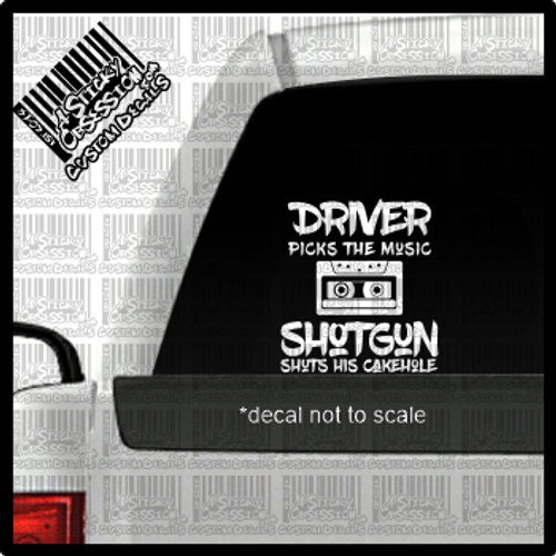 Supernatural Driver Picks the music decal on truck