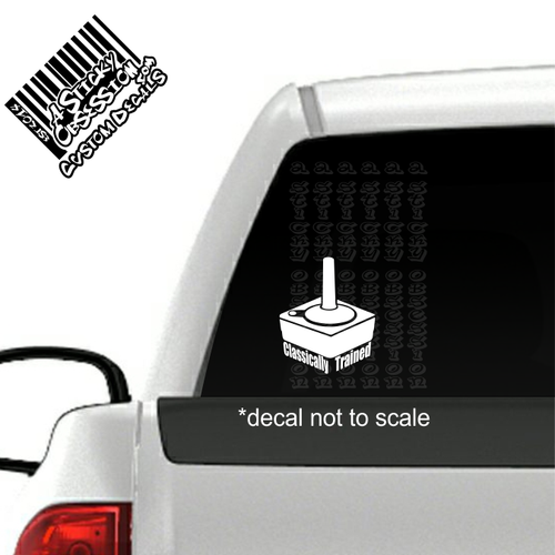 Joy Stick Classically Trained Vintage Controller Decal on truck