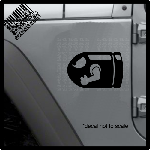 Bullet bill decal on jeep