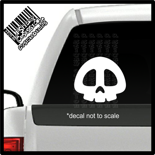 Bullet Bill Shooter Skull decal on truck