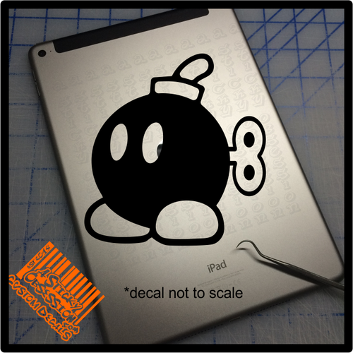 Bob omb decal on ipad