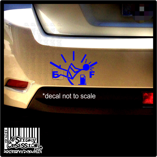 Gas Gauge Needle Funny Custom Decal on Subaru