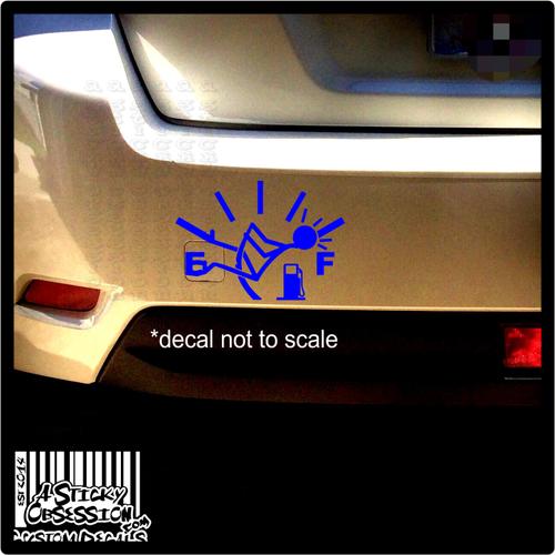 Gas Gauge Needle Funny Custom Decal on Subaru