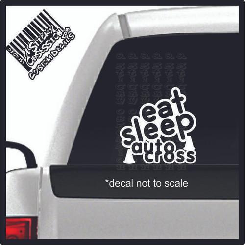 eat sleep autocross decal on truck