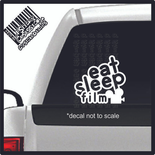 eat sleep film decal on truck